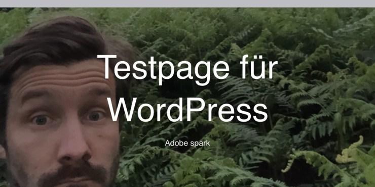 Testpage für WordPress