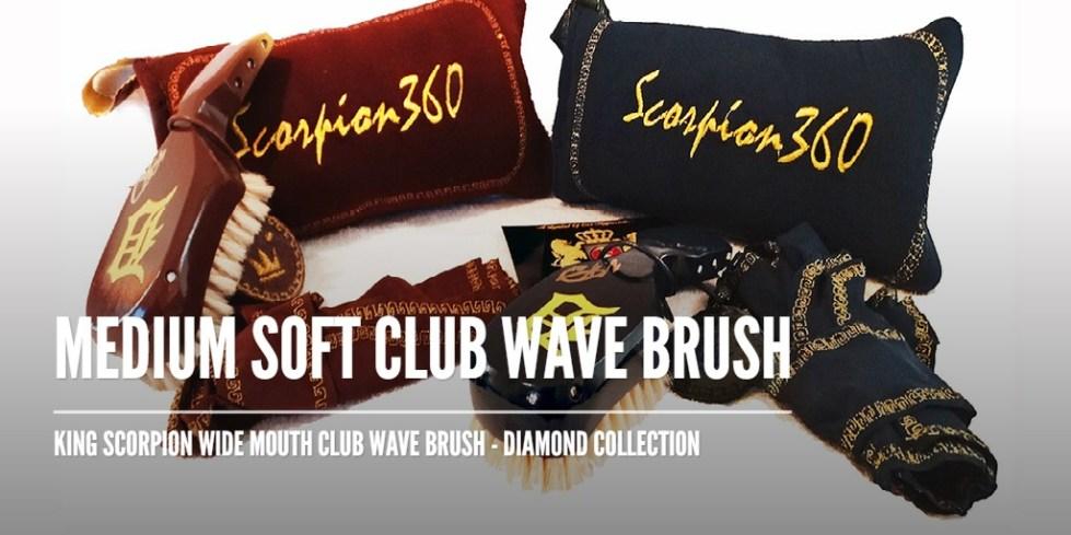Medium Soft Wide Mouth Club Wave Brush