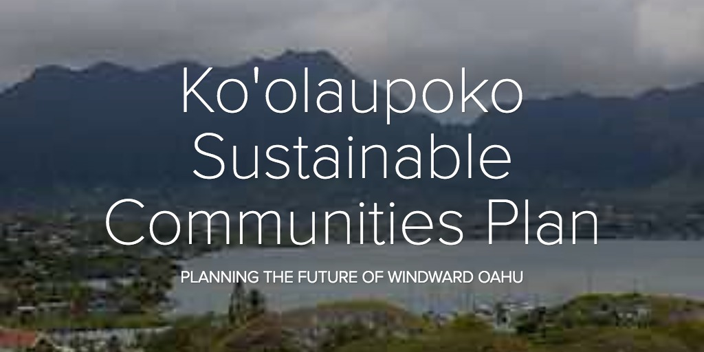 Ko'olaupoko Sustainable Communities Plan
