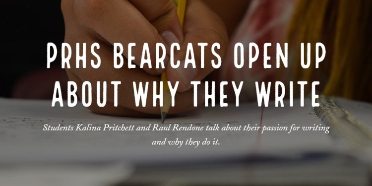 PRHS Bearcats Open Up About Why They Write