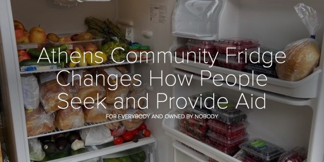 Athens Community Fridge Changes How People Seek and Provide Aid