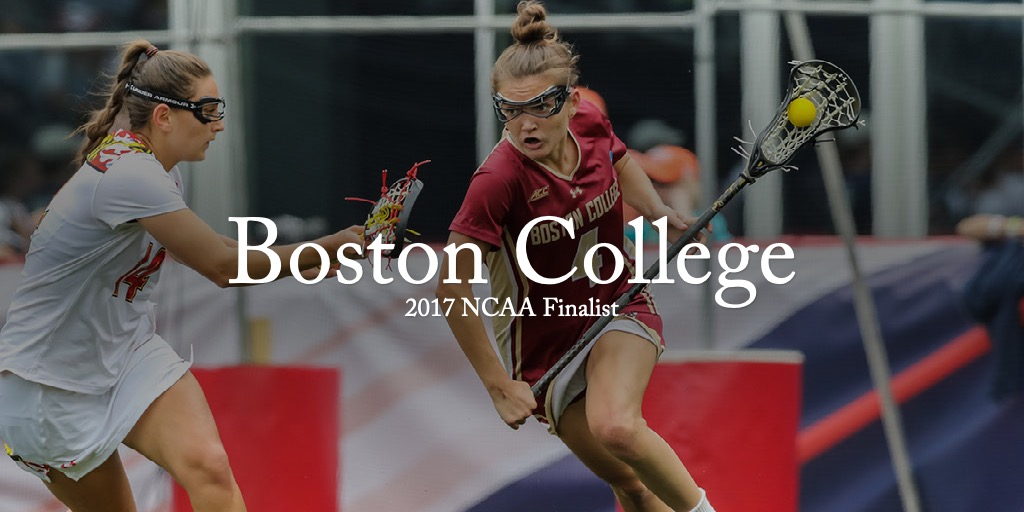 #4 Kenzie Kent (Boston College) drives to goal against Maryland at 2017 NCAA Women's Lacrosse Championship © Equity IX - SportsOgram - Leigh Ernst Friestedt