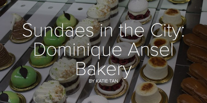 Sundaes in the City: Dominique Ansel Bakery