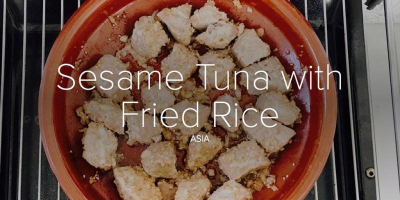 Sesame Tuna with Fried Rice