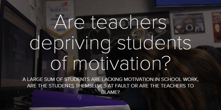 Are teachers depriving students of motivation?