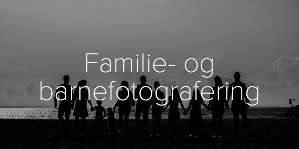 Familie- og barnefotografering