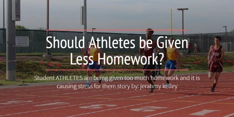 Should Athletes be Given Less Homework?