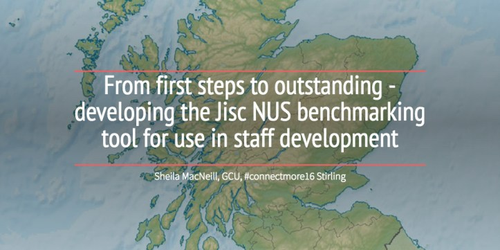 From first steps to outstanding - developing the Jisc NUS benchmarking tool for use in staff development