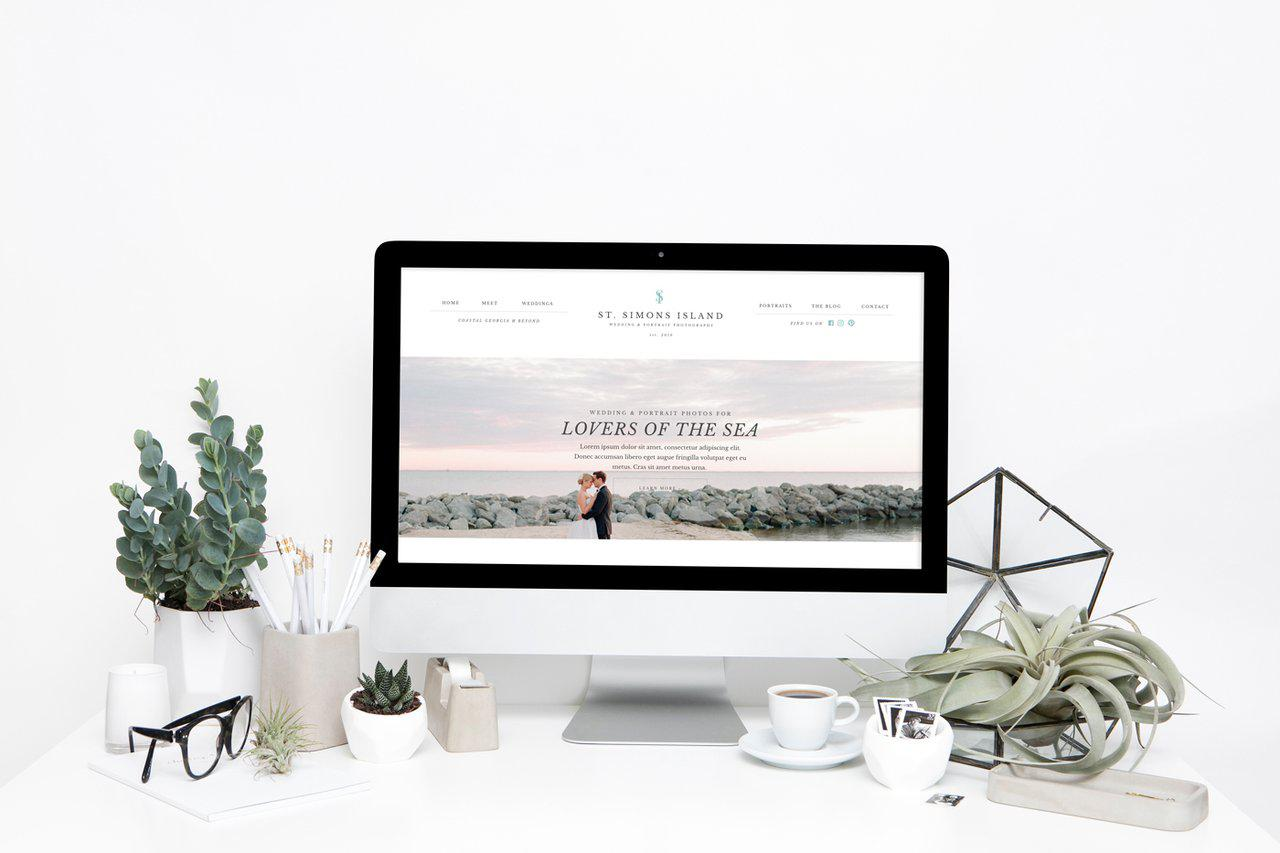 St. Simon's Island Showit Website Template