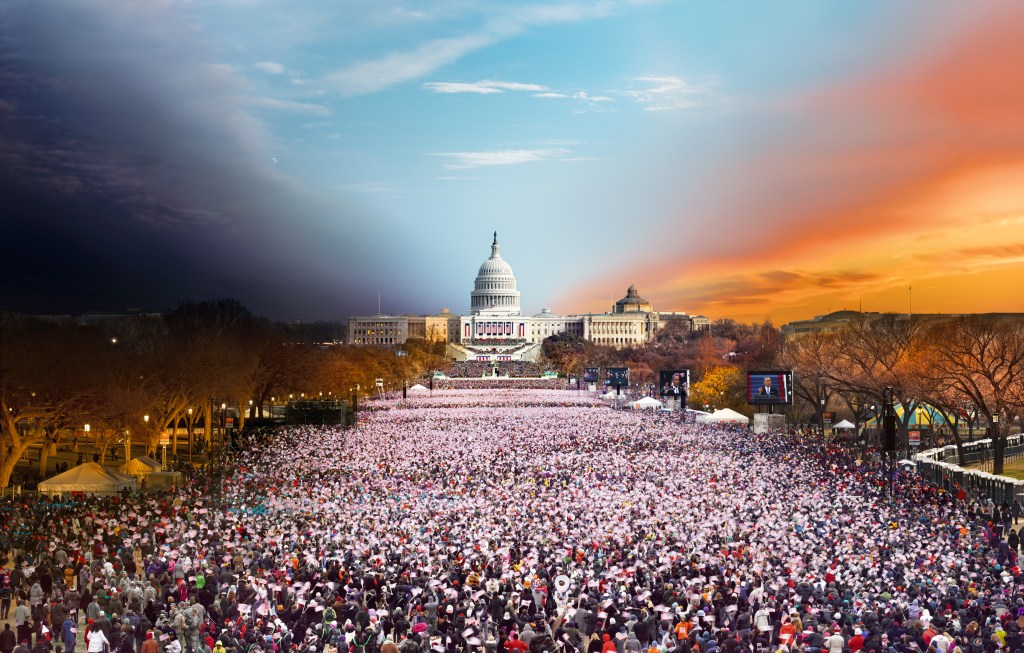 Stephen's photo of the 2013 Inauguration showed some 800,000 people who'd showed up to witness the ceremony.