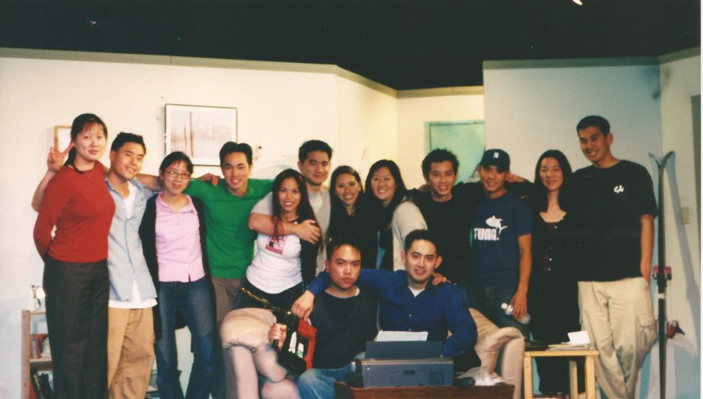 """The cast of """"The Achievers,"""" a play produced by the theater troupe LCC (short for """"Lapu, the Coyote that Cares""""). Actor Randall Park and the cast. Photo courtesy Randall Park."""