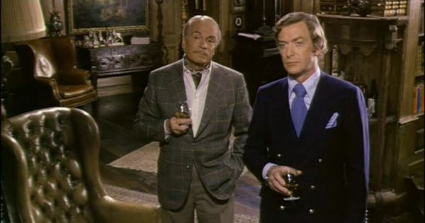 A screen grab from 1972's Sleuth, starring Laurence Olivier and Michael Caine.
