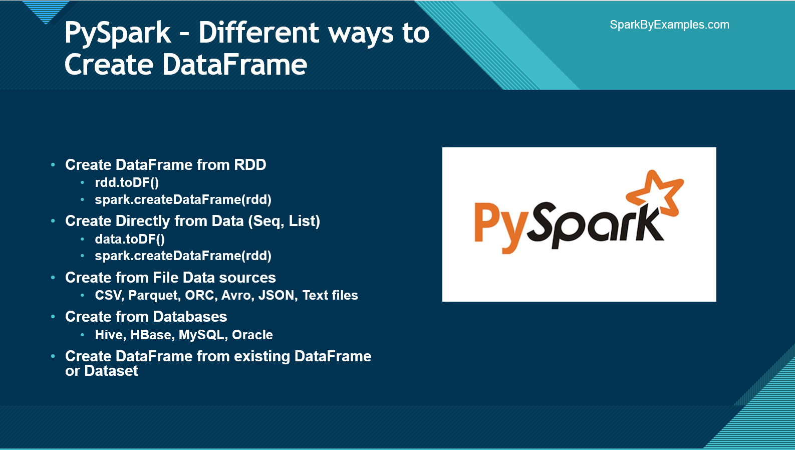 PySpark – Create DataFrame with Examples