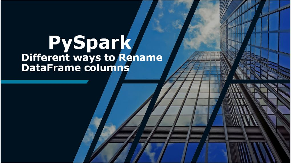 PySpark withColumnRenamed to Rename Column on DataFrame