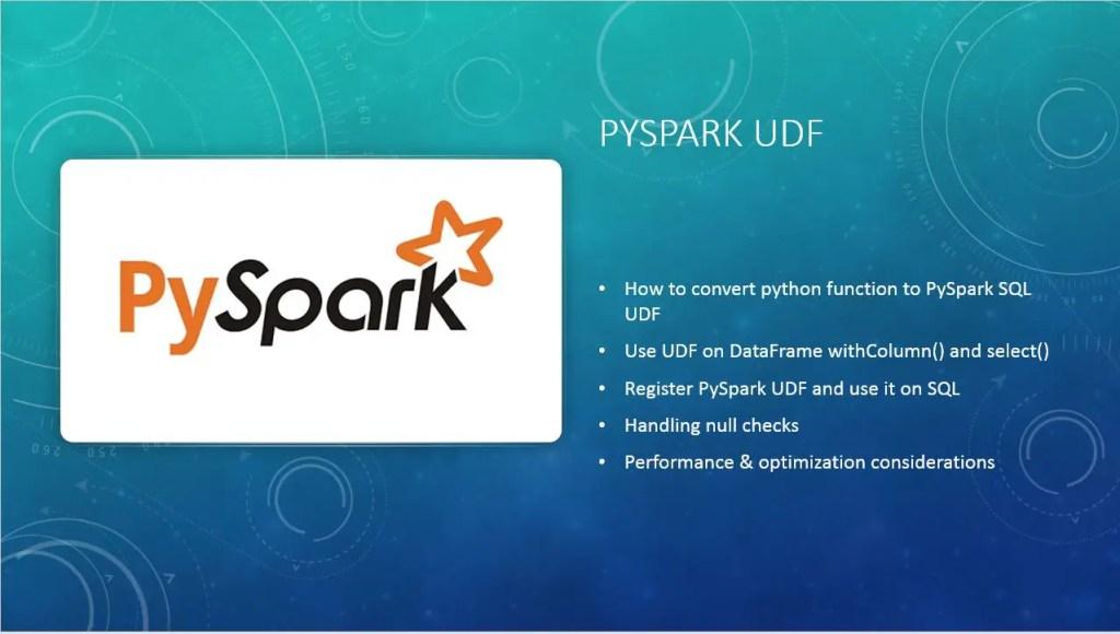 PySpark UDF