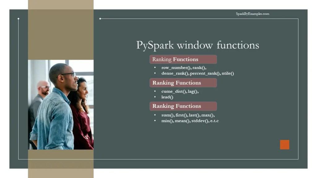 pyspark window functions