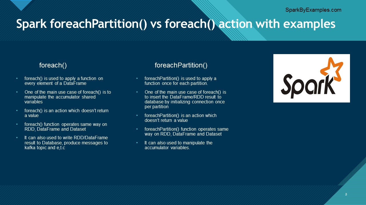Spark foreachPartition vs foreach | what to use?
