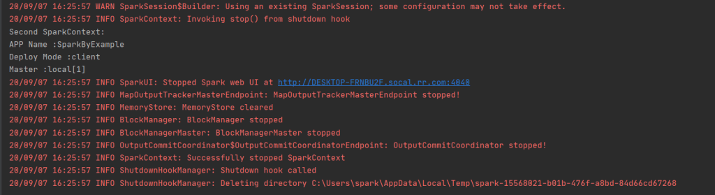 spark run example intelliJ
