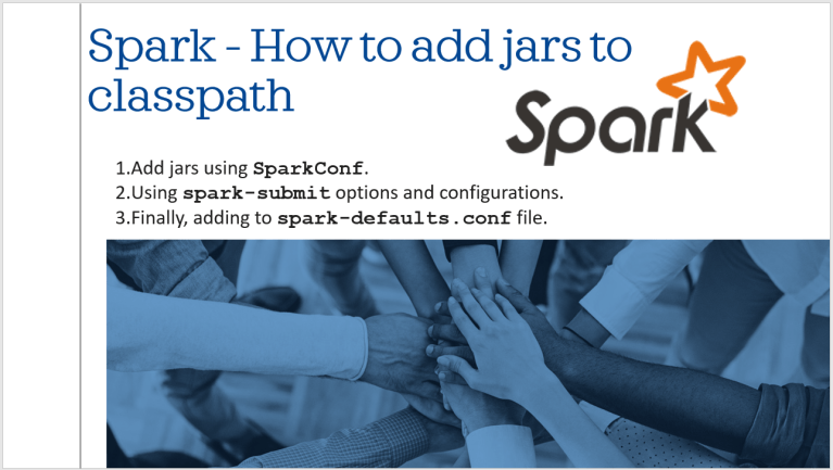 Add multiple jars to Spark Submit classpath?