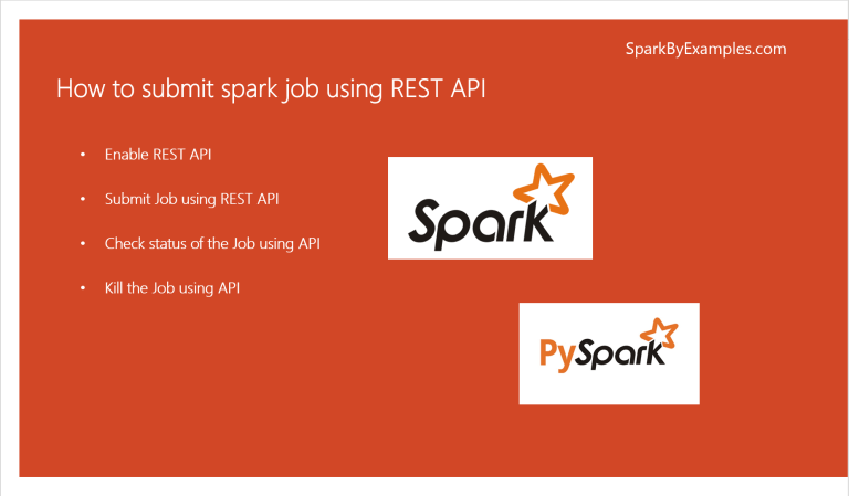 How to Submit a Spark Job via Rest API?