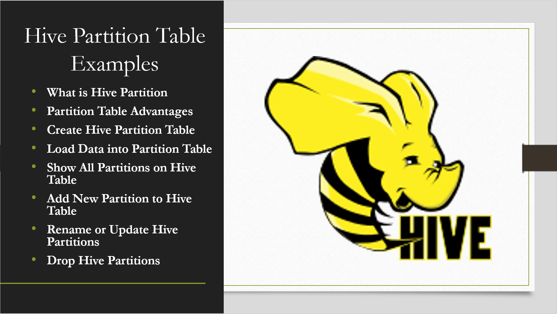 Hive Partitions Explained with Examples