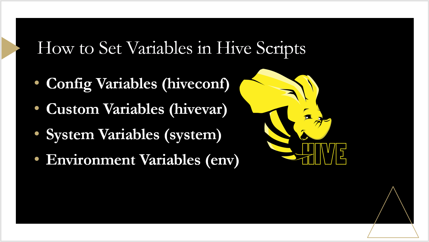 How to Set Variables in HIVE Scripts