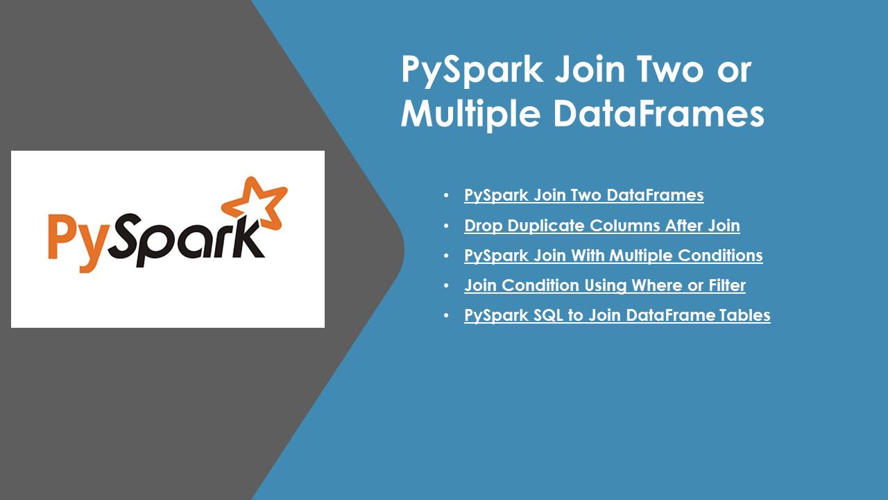PySpark Join Two or Multiple DataFrames