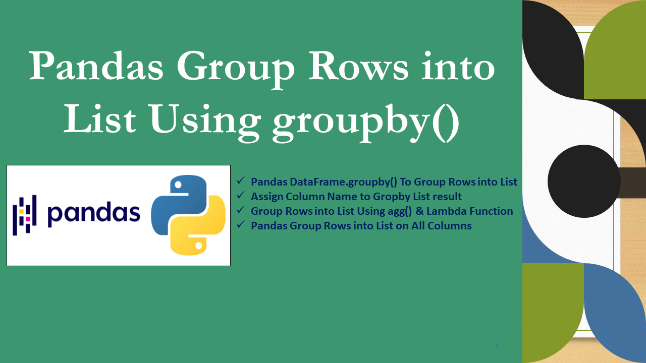 Pandas Group Rows into List Using groupby()