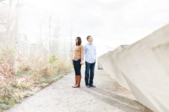 olympic sculpture engagement photos