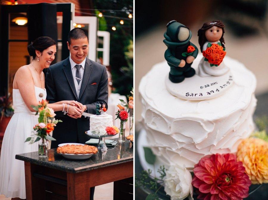 seattle wedding cake photos