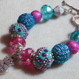 pink blue Bead Diva foil