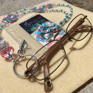 pink blue eyeglass lanyard necklace