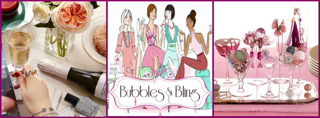 bubbles and bling jewelry making party
