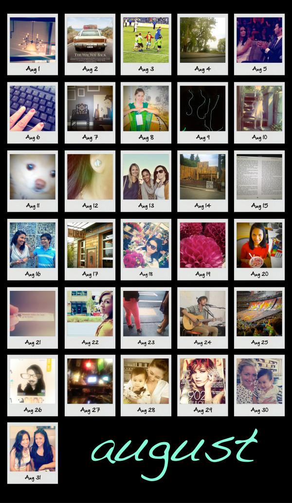 Life in Polaroids. August
