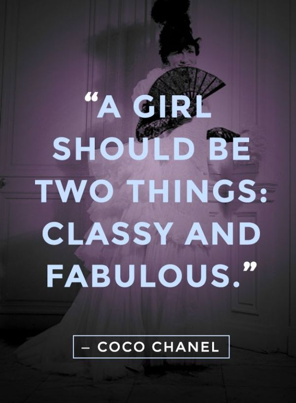 Words by Coco Chanel