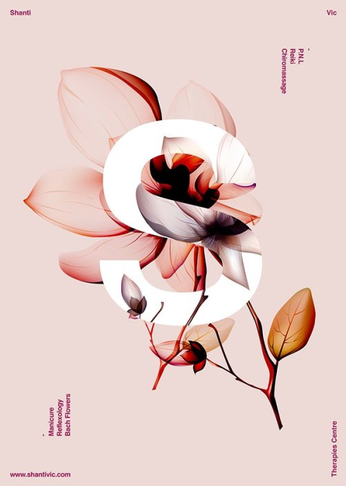 flowers + typography