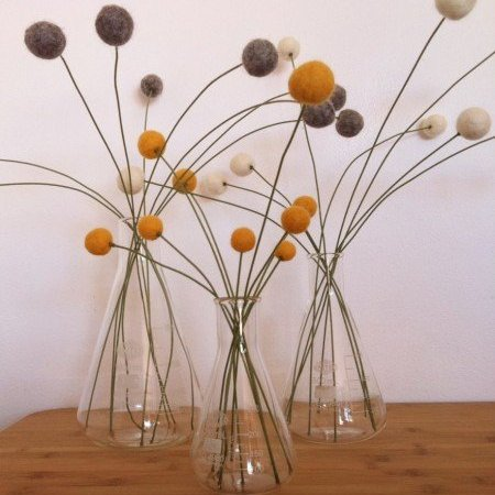 felted balls of love {aka DIY craspedia}