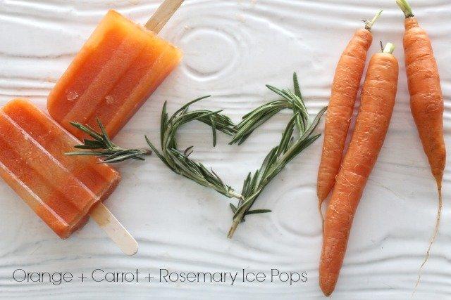 Orange + Carrot + Rosemary Ice Pops