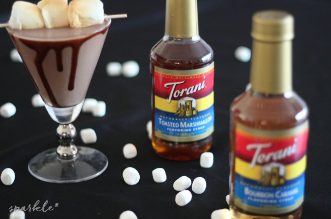 Toasted Marshmallow Hot Chocolate Martini