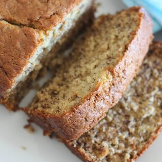 While trying to find a way to use up some leftover buttermilk, I created this Buttermilk Banana Bread. It is delicious and moist and quite possibly the best banana bread I have ever tasted!