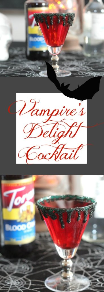 Vampire's Delight Cocktail made with tequila, cranberry juice, soda and Torani Blood Orange Syrup! It's a perfectly wicked Halloween drink for adults! #AToraniHalloween #MsgFor21+ #ad