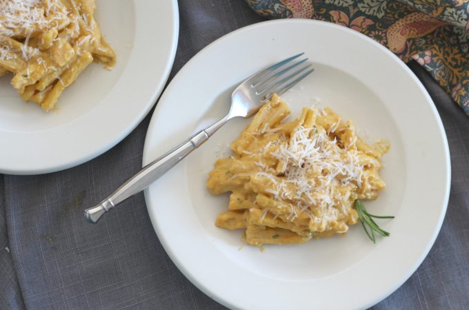 Pumpkin Rosemary Cream Pasta with Parmigiano Reggiano