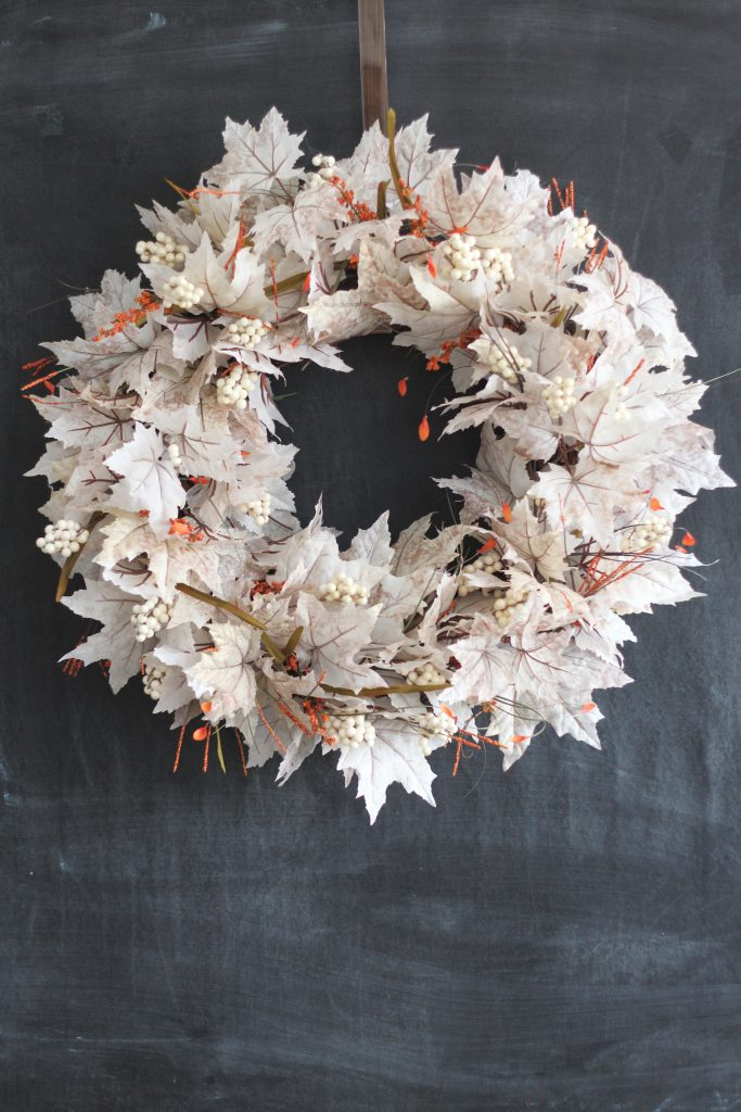 Make a statement on your front door with this White Leaf Fall Wreath tutorial.