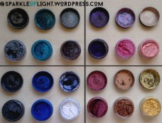 sparkleoflight makeup addiction cosmetics pigments review swatches