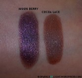 sparkleoflight makeup addiction vintage palette review swatches moon berry cocoa lace