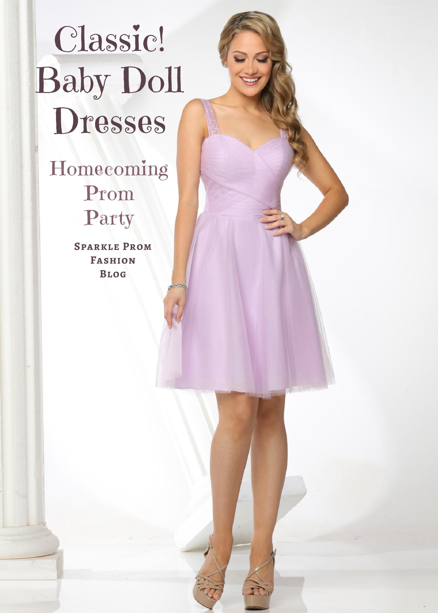 Baby Doll Style Prom Dresses