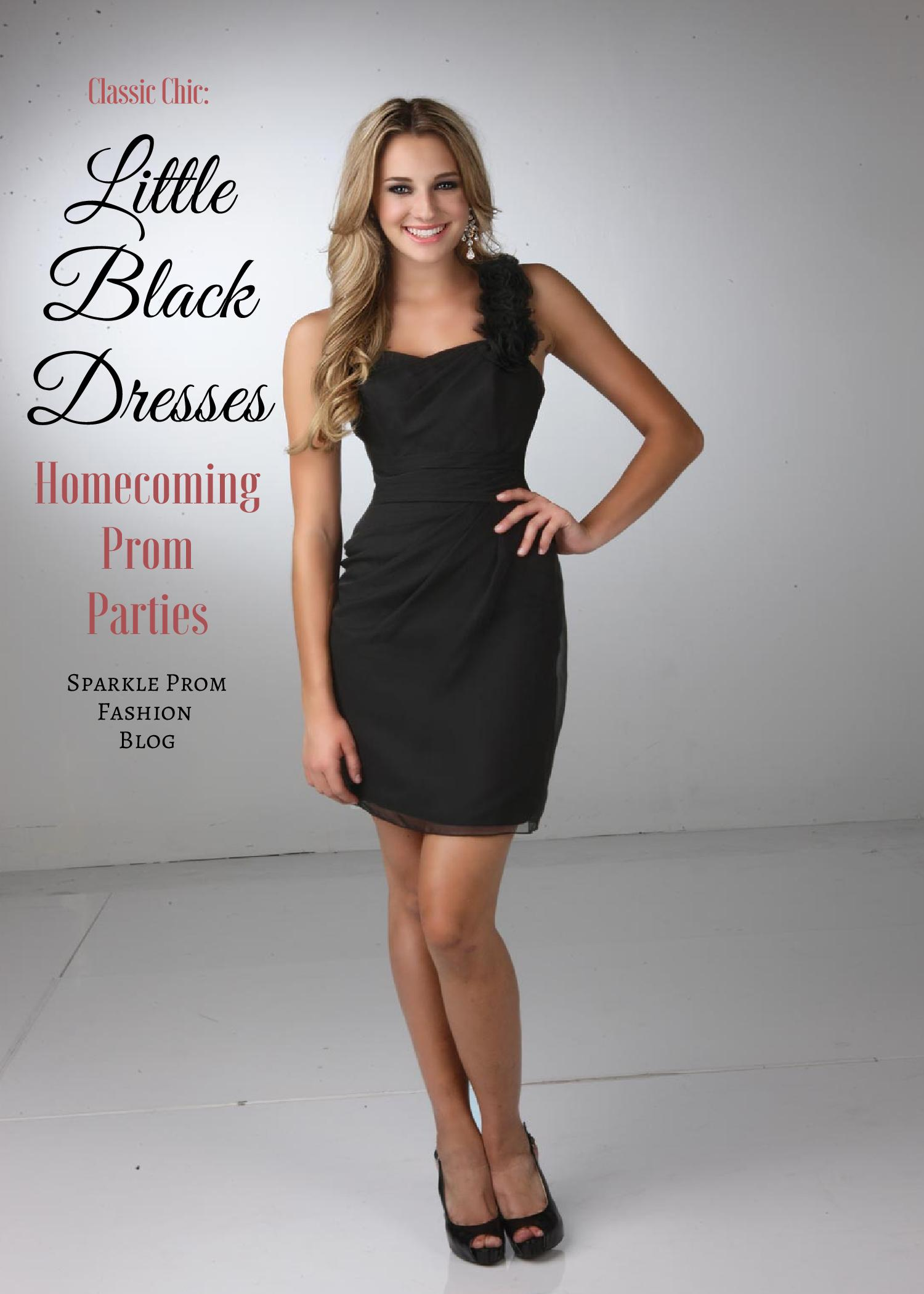 Little Black Dresses for Homecoming, Prom & Parties – Sparkle Prom Fashion Blog