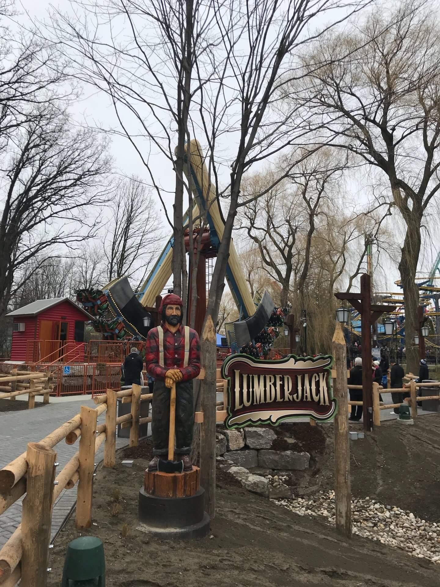 Canada S Wonderland Opening Day New Lumberjack Ride