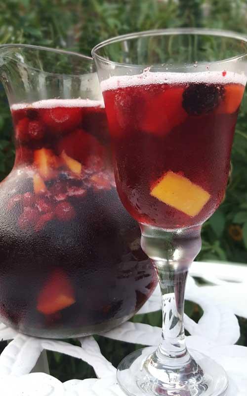 Sparkling Mango Berry Sangria