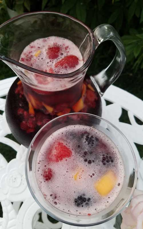 This recipe for Sparkling Mango Berry Sangria is a perfect and super-simple way to celebrate summer, or any day for that matter.